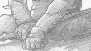 Batrouède - détail mains