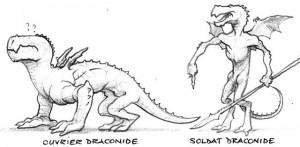 draconides : ouvrier et soldat (Draconides de Faërie)