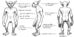Gobelin nu – face, profil, dos (Gobelins de Faërie)