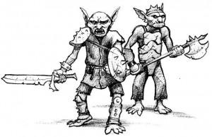 Guerriers Gobelins et leurs armures de bric et de broc (Gobelins de Faërie)