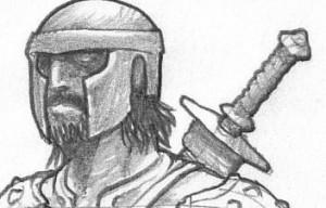 Mercenaire : visage (Mercenaires de Faërie)