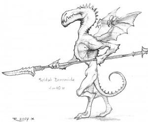 Soldat Draconide (Draconides de Faërie)