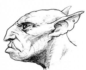 Tête de Gobelin, profil (Gobelins de Faërie)