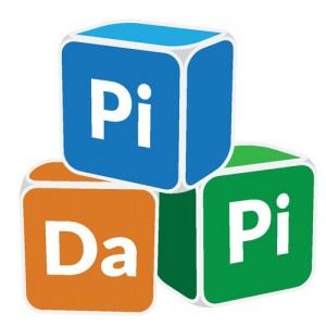 Logo Pidapi V1 minimaliste (Logo Pidapi : des cubes et … des grenouilles, bien sûr.)