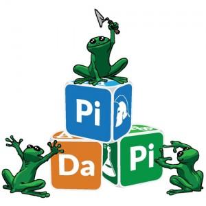 Logo Pidapi V4 (Logo Pidapi : des cubes et … des grenouilles, bien sûr.)