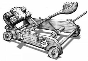 Une catapulte antique pour Pidapi V6 (Pidapi V6 : la cuvée des grenouilles 2012)