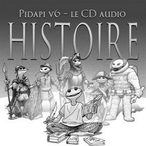 Jaquette pour le CD Histoire de Pidapi (Pidapi V7 : la cuvée des grenouilles 2013)