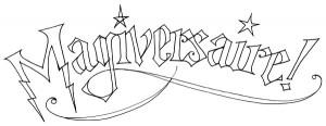 Lettrage «Magiversaire» (Magie & anniversaire = magiversaire)