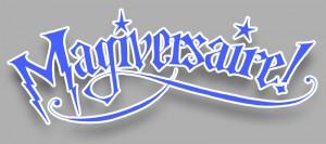Lettrage «Magiversaire» retravaillé numériquement (Magie & anniversaire = magiversaire)