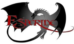Dragon se melant aux lettres du logo Esperide : croquis 3
