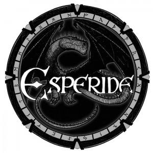 Dragon se melant aux lettres du logo Esperide : version 2