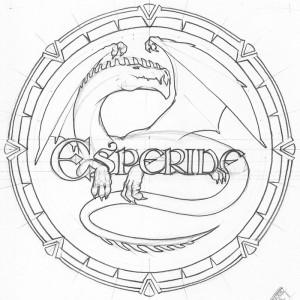 Dragon pour le logo Esperide : traits de construction de la version 3 (Esperide : un dragon et des lettres)