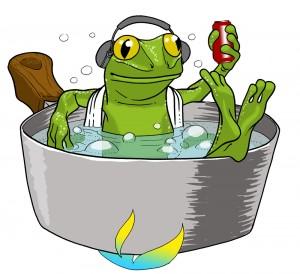 La grenouille qui ne savait pas qu'elle était cuite (version colorisée) (La grenouille qui ne savait pas qu'elle était cuite)