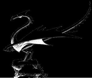 Dragon incendiaire, détourage après vectorisation (Des griffes, des ailes et des flammes)