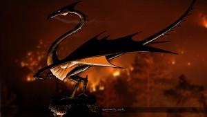 Dragon incendiaire , rendu final 1920×1080 (Des griffes, des ailes et des flammes)