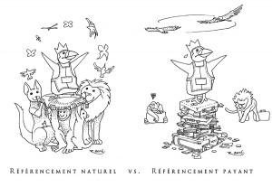 Site Internet, Prestashop : réferencement naturel vs. payant (Prestashop, sa mascotte, et les livres d'informatique)