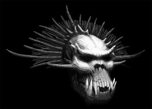 Troll Skull : rendu 2, ombrages (Troll Skull)