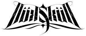 """calligraphie """"Skull"""" noir & blanc"""