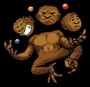 """Les 3 étapes de la réflexion chez l'enfant - le cerveau """"primate"""""""