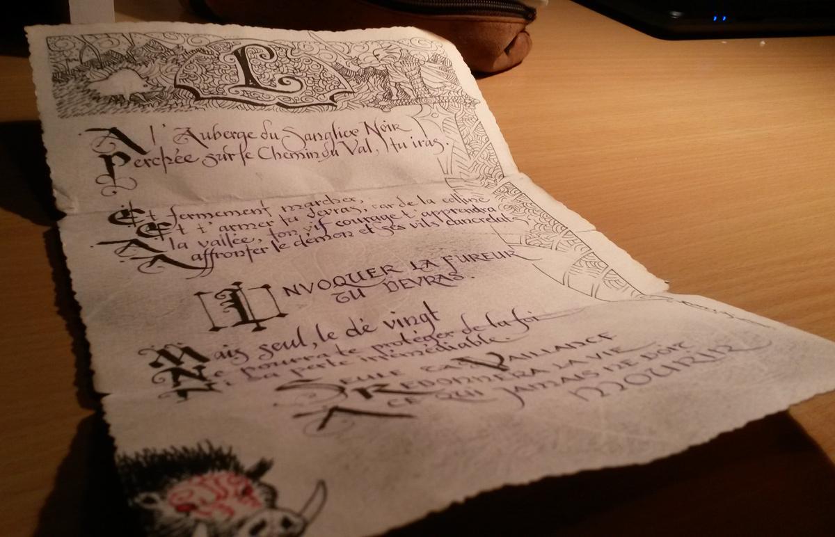 Le manuscrit du sanglier noir, détail
