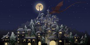 Village magique la nuit (Calendrier de l'Avent CityGeek)