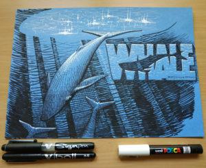 Inktober 2018 d12 : Whale / Baleine (Inktober 2018 – part.2)