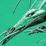 """Le Dragon à deux têtes de la BD """"Légendes des Contrées Oubliées"""", détail (Inktober 2018 jour 29 : """"Double"""")"""