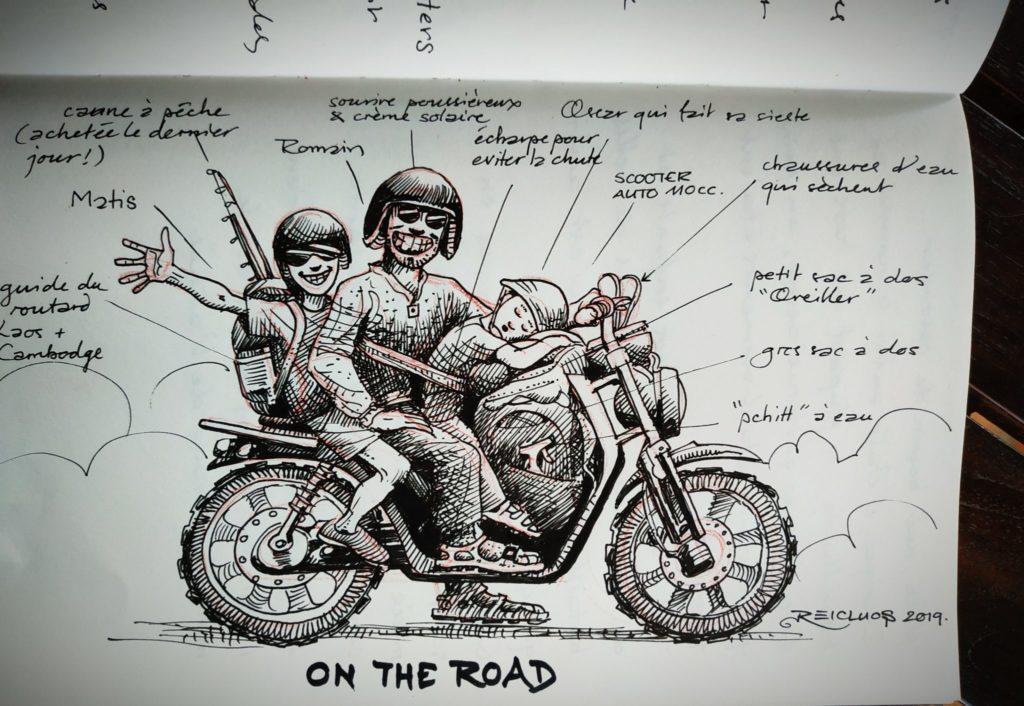 Carnet de vadrouille 2019 : à 3 sur la moto – Boucle de Thakhek, Laos