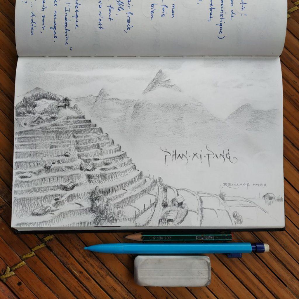 Carnet de vadrouille 2019 : Les rizières au pied du Phan Xi Pāng, toit de l'Indochine (Vietnam)